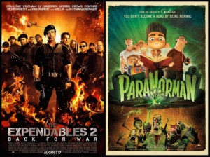 Mini Review: The Expendables 2 and ParaNorman