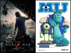 Mini Review: World War Z and Monsters University