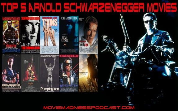 Top 5 Arnold Schwarzenegger Movies 575x359